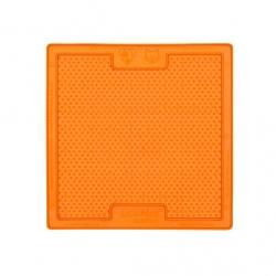 Lickimat Soother - tapis de léchage orange à remplir de nourriture pour chien ou chat conçus pour les aider, les occuper.