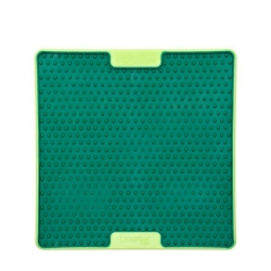 Lickimat Soother Pro - tapis de léchage vert à remplir de nourriture pour chien ou chat conçus pour les aider, les occuper.