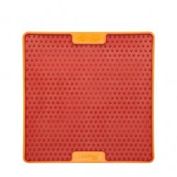 Lickimat Soother Pro - tapis de léchage orange à remplir de nourriture pour chien ou chat conçus pour les aider, les occuper.