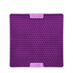 Lickimat Soother Pro - tapis de léchage violet à remplir de nourriture pour chien ou chat conçus pour les aider, les occuper.